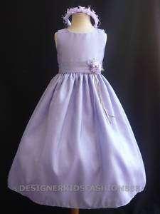 wedding Lilac Flower girl party bridal dress S M L X 2 4 6 8 10