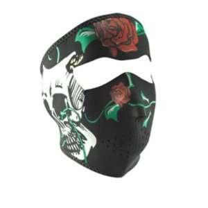 Neoprene Comedy & Tragedy Skulls Design Full Face Mask