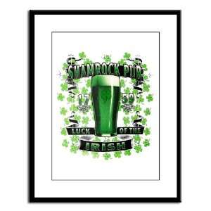 Print Shamrock Pub Luck of the Irish 1759 St Patricks Day Four Leaf