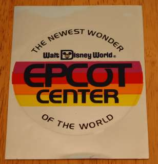 New 1980s EPCOT Center MIRROR Sticker Decal WALT DISNEY WORLD 80s