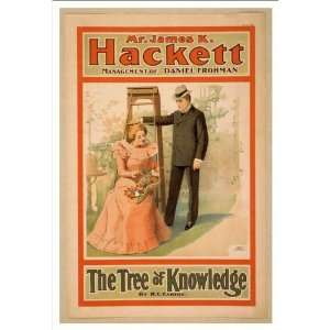 Historic Theater Poster (M), Mr James K Hackett The tree