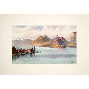 1908 Color Print Head Lake Annecy Hte. Savoie J. Hardwicke