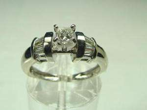 Platinum 0.25ct Princess Cut Diamond Estate Wedding Set