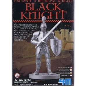 Excavate a Medieval Knight Black Knight Kit: Toys & Games