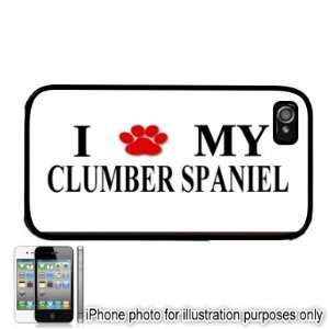 Clumber Spaniel Paw Love Dog Apple iPhone 4 4S Case Cover