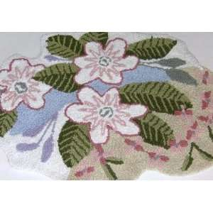 Plush Tropical Floral Throw Accent Rug Area Bath Mat: Home