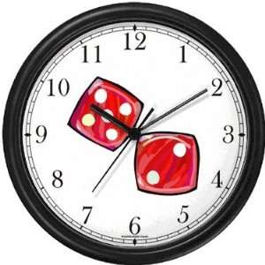 Craps or Pair of Red Dice Gambling or Casino Theme Wall