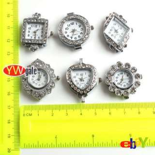 Plated Mixed Rhinestone Quartz Watch Face For Beading TO PICK