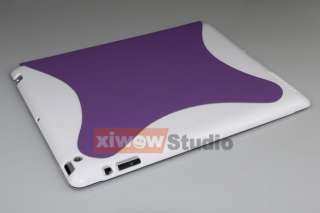 Purple iPad 2 Slim Magnetic Smart Cover with Hard Case 2 Tone
