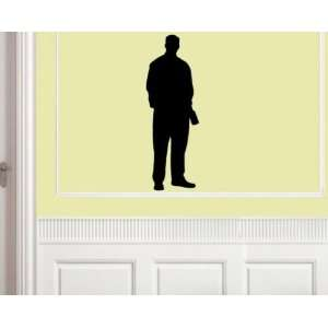 SILHOUETTE ADULT MALEvinyl Decal Wall Sticker Mural