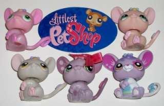Littlest Pet Shop~BABY RAT/MOUSE FAMILY~Lot W31