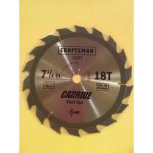 Craftsman 7 1/4 in. 18t Carbide Fast Cut Blade
