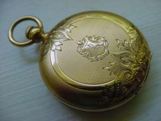 Antique James Perret Pocket Watch 18k Gold Key Wind Set