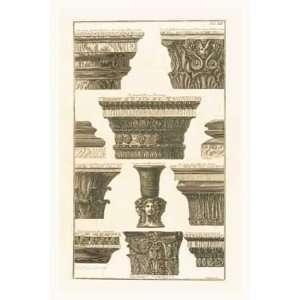 Giovanni Battista Piranesi   Vari capitelli
