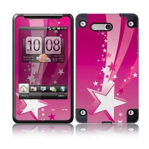 Pink Stars Protective Skin Cover Decal Sticker for HTC HD