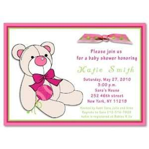 Teddy Bear Girl Baby Shower Invitations Baby