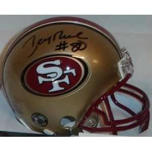 Jerry Rice Signed San Francisco 49ers Riddell Replica Mini