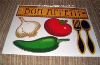 BISTRO FAT CHEF Wall DECOR Stickers Pasta Chili Pepper