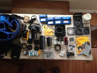 Pentax 67 Medium Format SLR HUGE LOT tele, macro Lenses, Body, filters