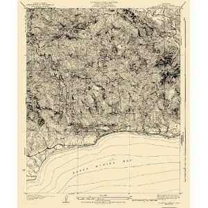 USGS TOPO MAP SOLSTICE CANYON QUAD CALIFORNIA (CA) 1932