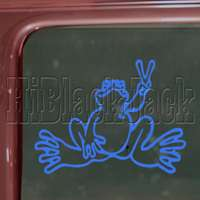 PEACE FROG Decal Truck Bumper Window Vinyl Sticker