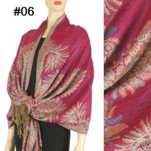 Pashmina Cashmere Silk Wool Scarf Shawl Wrap Cape 36 06