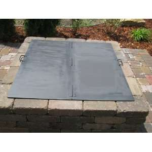 Square Steel Fire Pit Cover / Snuffer