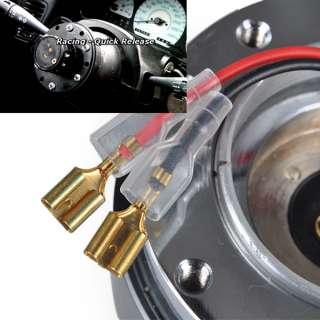 Black 12 HOLE HUB Steering Wheel Quick Release Snap Off Boss Kit