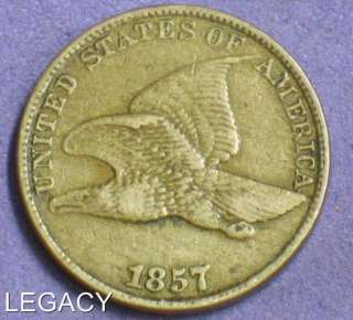 1857 FLYING EAGLE CENT COPPER NICKEL EARLY DATE (IY+