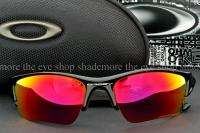 New OAKLEY FLAK JACKET XLJ POLARIZED Sunglasses Black OO/00 Red