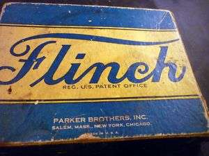 Vintage FLINCH Card Game BLUE Box 1938