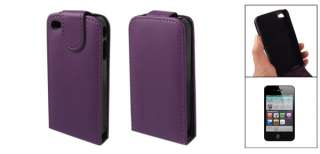 Faux Leather Flip Flap Case Cover Protector for Apple iPhone 4 4G