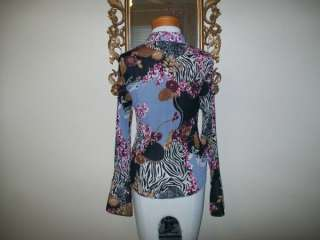 Violet & Claire shirt long sleeve flowered size Small