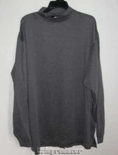 Mens FootJoy Long Sleeve Mock Neck Golf Shirt XXL Heather Gray EUC