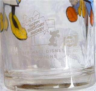 78 Pepsi Cola Glass, Minnie Mouse Happy Birthday Mickey Walt Disney