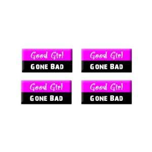 Good Girl Gone Bad   3D Domed Set of 4 Stickers