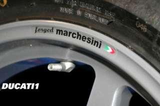 MARCHESINI FORGED WHEEL RIM decals, ducati, MV agusta