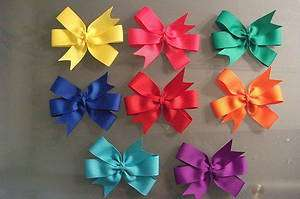 Girls Infant/Toddler 4 Pinwheel hair bows   Handmade   You pick color