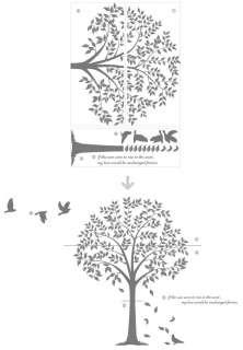 Wall Art Deco Vinyl Decal Sticker LINDEN TREE & BIRD