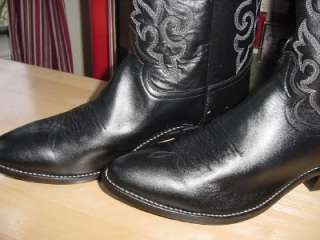 New NIB Black Justin 1409 Cowboy Boots Mens 8 D Lady 9.5 Leather Nice