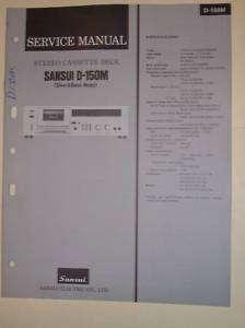 Sansui Service Manual~D 150M Cassette Deck~Original