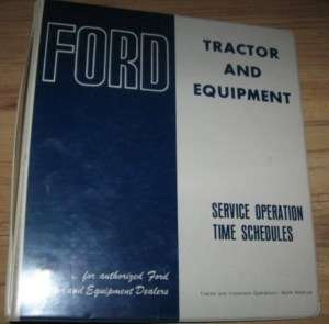 Ford Service Operation Time Schedules Manual Binder