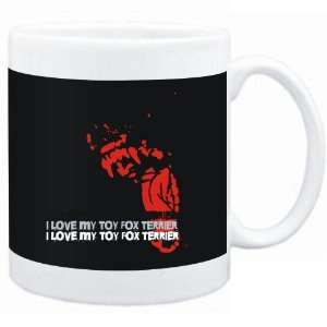 Mug Black  I love my Toy Fox Terrier  Dogs