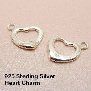 Sterling Silver Slim HEART/ Open HEART/ Little DOLPHIN Charm PENDANT