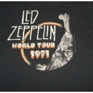 Medium T shirt LED Zeppelin   World Tour 1971