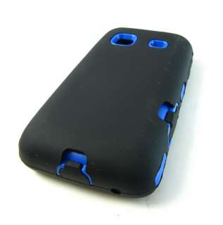 BLK BLUE IMPACT HARD COVER CASE SAMSUNG GALAXY PREVAIL PRECEDENT PHONE