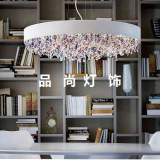 Masiero OLA 60cm Chromatic Crystal Round Pendant lamp