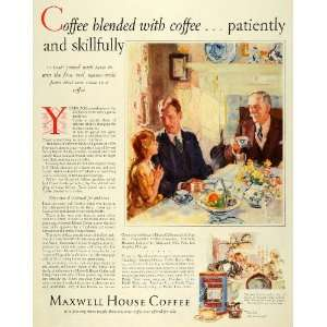 1928 Ad Blended Maxwell House Coffee Joel Cheek Neal