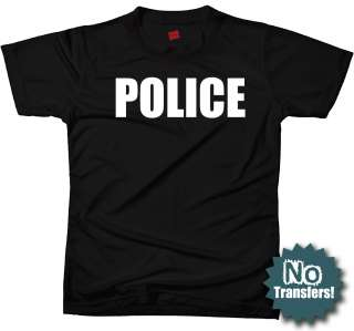 POLICE Officer Cop Tee Law Enforcement Cool New T shirt