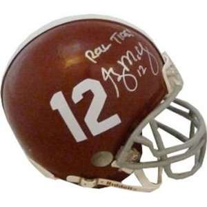 Greg McElroy Signed Crimson Tide Mini Helmet Sports